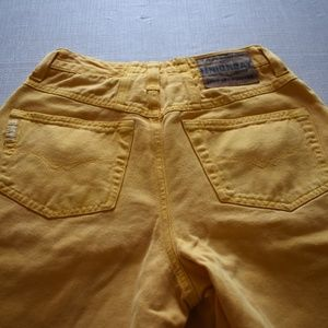 Vintage Yellow Unionbay Mom Jean Shorts Denim 5